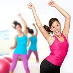 Young Women Practicing Weight Loss, Dieting, And Exercise