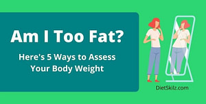 woman looking in mirror when am i overweight
