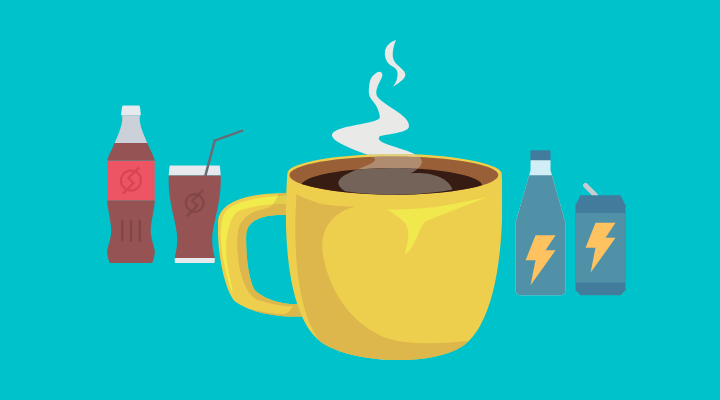 coffee, soda pot, energy drinks, all with caffeine to cause panic attacks