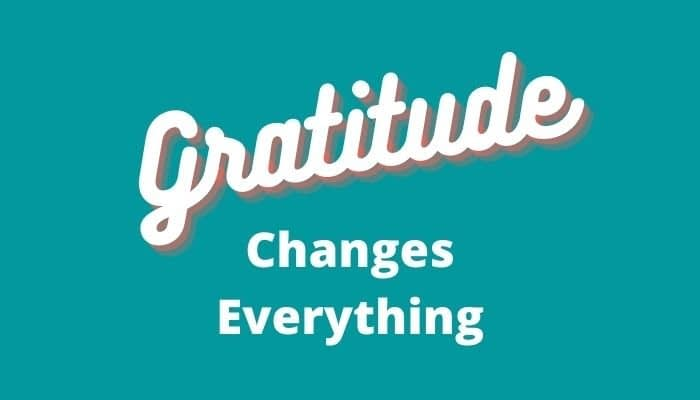 poster with gratitude changes everything