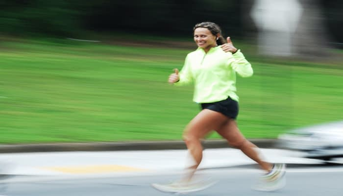 woman running for exercise to really help anxiety