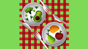 two plate of Best Foods To Lose Weight icon