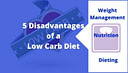 disadvantages of a low carb diet banner