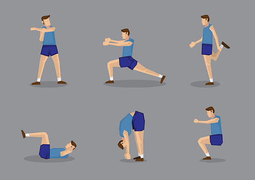 Do you stretch after workouts with these 6 illustrated stretches