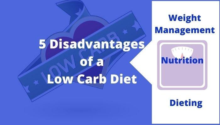 disadvantages of a low carb diet banner