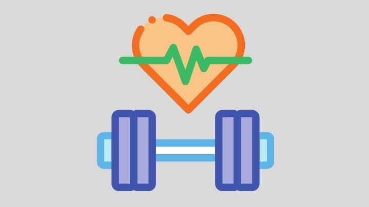 healthy heart and exercise weights