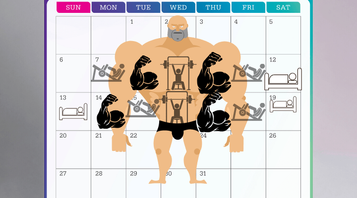 monthly calendar workout schedule